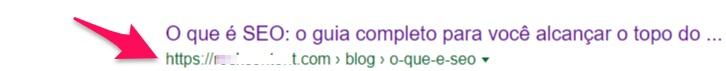 Imagem que mostra uma URL amigável de um site