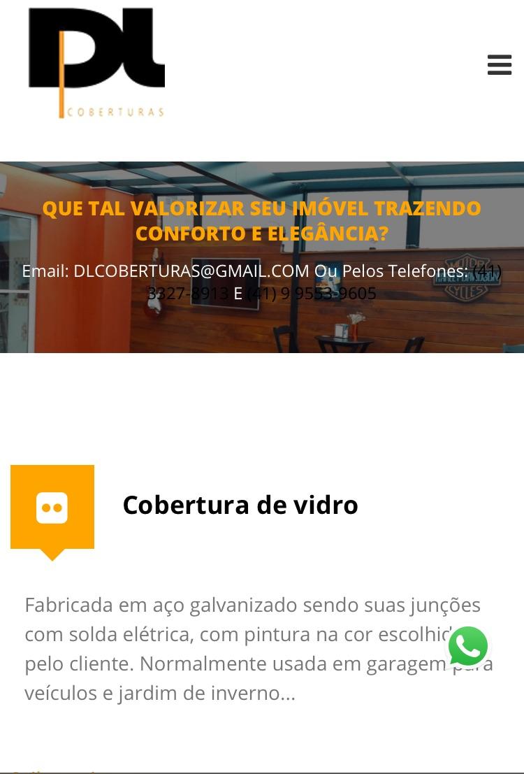 Imagem que mostra a tela de um site responsivo